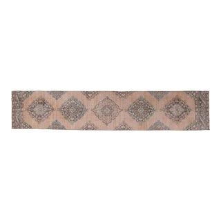 """Long and Narrow Handmade Staircase Turkish Wool Rug Runner 2'7"""" X 13'4"""" For Sale"""