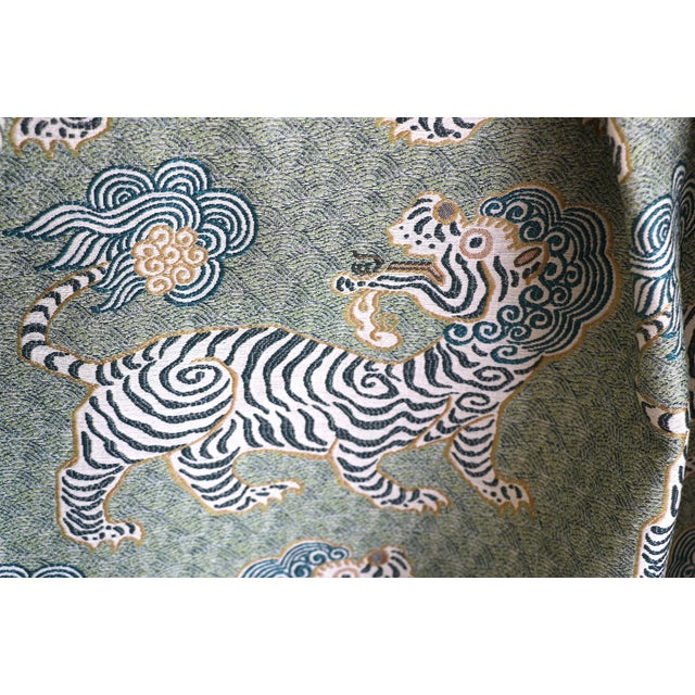 Textile Tibet Basil Green Upholstery Fabric by the Yard For Sale - Image 7 of 7