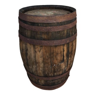 French Oak Small Wood Barrel For Sale