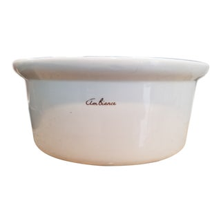 """Hall China White """" Ambience"""" Serving or Display Bowl For Sale"""