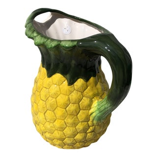 Majolica Style Pineapple Pitcher