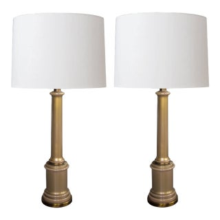 Mid-Century Hollywood Regency Columnar Lamps by Paul Hanson - a Pair For Sale