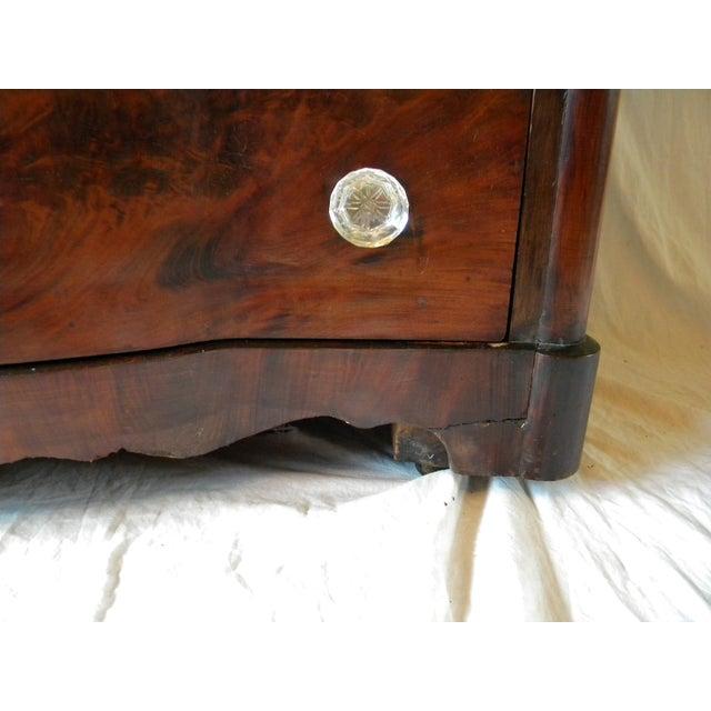 Metal Antique Flamed Mahogany Dresser For Sale - Image 7 of 12