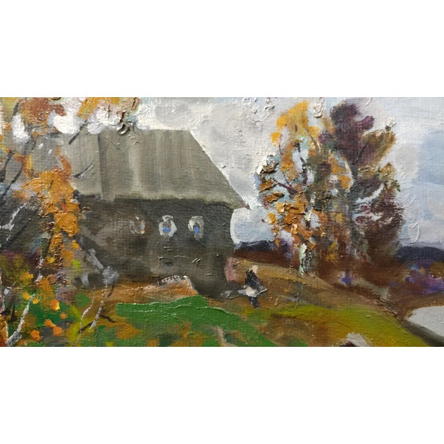 """Alex Eremin """"Autumn Day at the Marina""""- Landscape Oil Painting For Sale In Los Angeles - Image 6 of 11"""