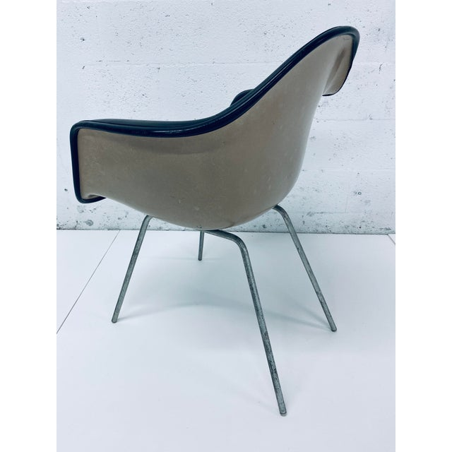 Black Herman Miller Black Leather Arm Chairs by Charles and Ray Eames, 1950 - a Pair For Sale - Image 8 of 12