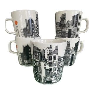 Vintage Marimekko Japan Mugs - Set of 5 For Sale