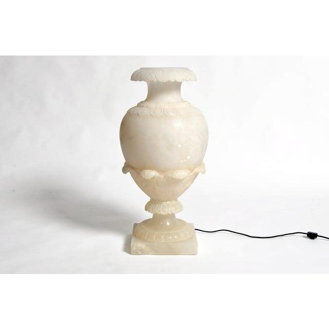 Vintage French Alabaster Jar Lamp For Sale - Image 11 of 11