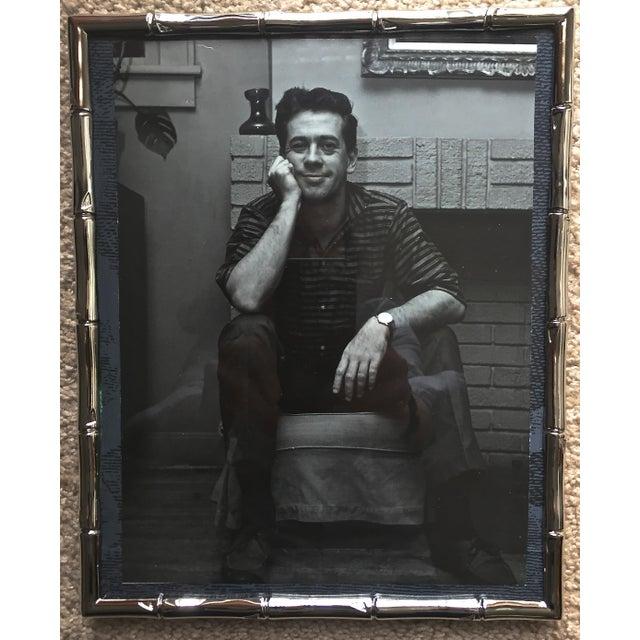Italian Faux Bamboo Chrome Portrait Frame - Image 5 of 5