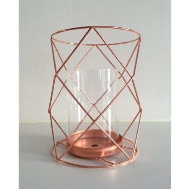 Copper Candle Coffee Table Display - Pair - Image 2 of 6