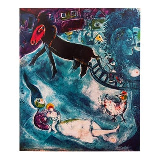"""1940s Marc Chagall """"The Madonna and the Sledge"""", First Edition Period Swiss Lithograph For Sale"""