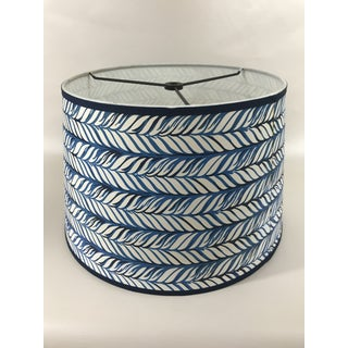 Ink Blue Braid Tapered Drum Lamp Shade Preview