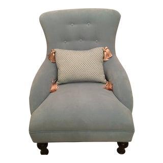 Modern Robert Allen Performance Velvet Slipper Chair For Sale