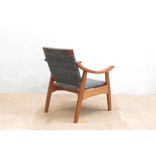 Handwoven Granito and Royal Mahogany Izapa Arm Chair - Image 5 of 6
