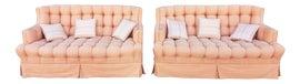 Image of Orange Loveseats