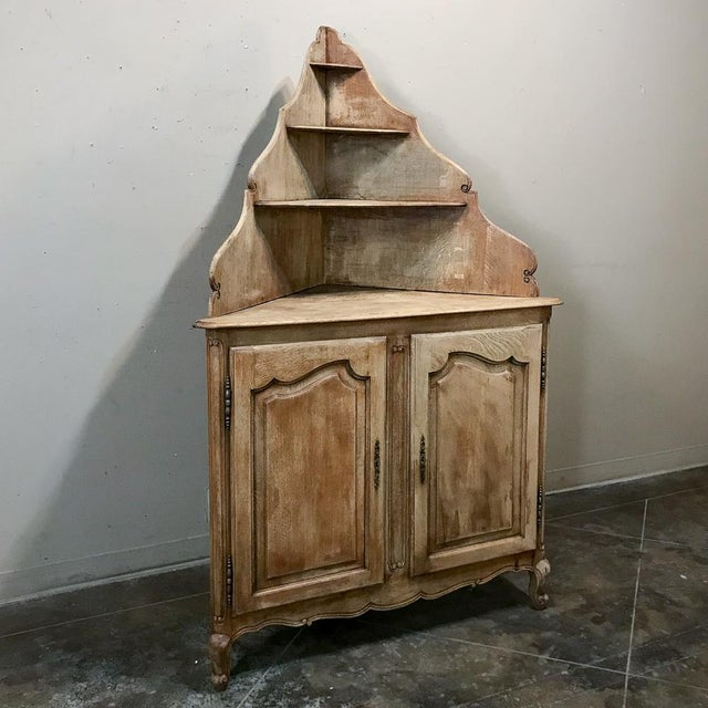 Country Antique Country French Stripped Corner Cabinet For Sale - Image 3 of 13