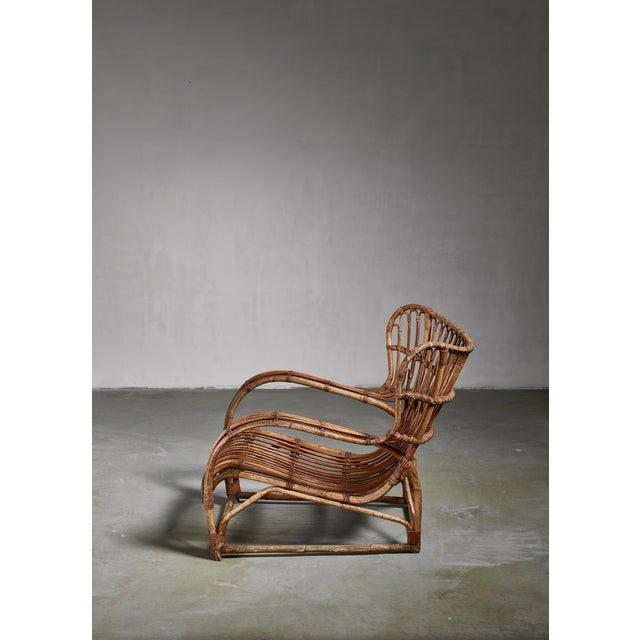 Mid-Century Modern Viggo Boesen Bamboo Lounge Chair for e.v.a. Nissen, Denmark, 1930s For Sale - Image 3 of 6