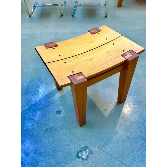 Rob Edley Welborn Designed Prototype Bench or Stool For Sale - Image 9 of 9