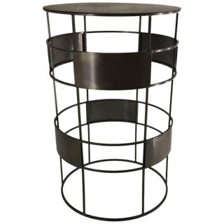 New Handmade Bistro High Table in Wrought Iron, Customizable For Sale