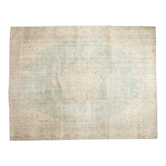 """Vintage Distressed Sivas Carpet - 8'7"""" X 11'1"""" For Sale"""
