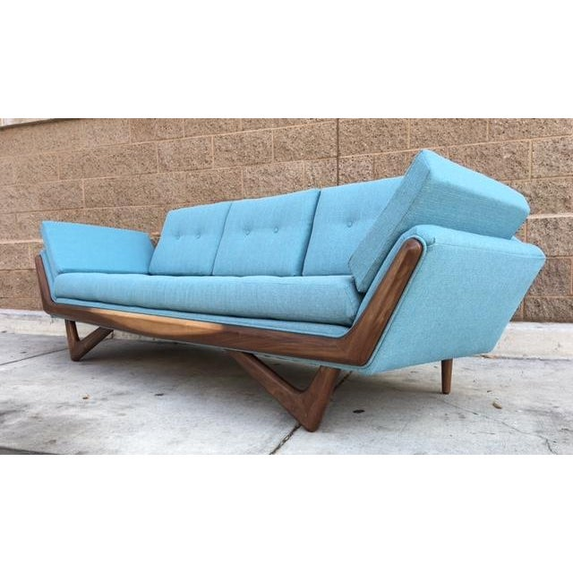 Mid-Century Sculptural Sofa in Powder Blue - Image 5 of 6