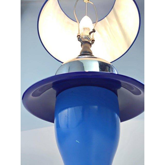 Table Lamp in Multiple Colors of Blue For Sale In San Diego - Image 6 of 12