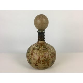 Italian Leather Wrapped World Globe Decanter Preview
