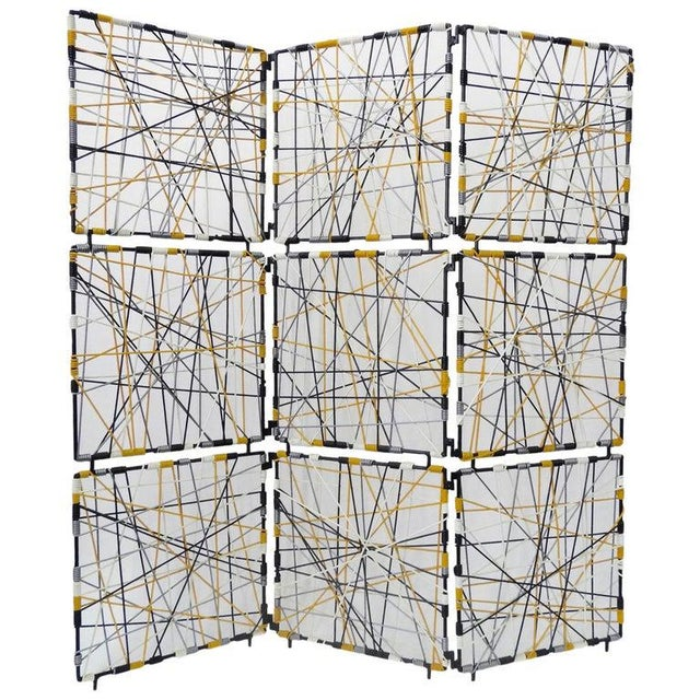 1960s Mid-Century Modern Vinyl Cord Room Divider For Sale - Image 5 of 5