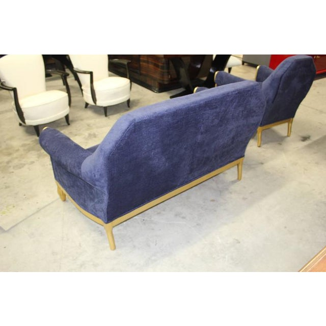 French Art Deco Paul Follot Settee & Chairs - Set of 3 For Sale In Miami - Image 6 of 10