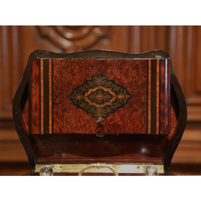 19th Century French Napoleon III Walnut and Burl Complete Cave a Liqueur For Sale - Image 10 of 13