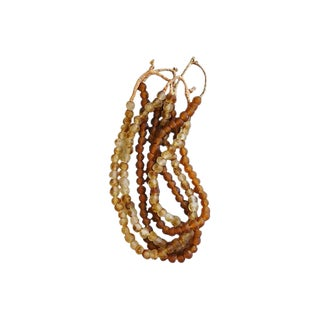 Autumn Gold & Amber Glass Bead Strands - Set of 4 For Sale