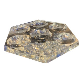 """1970's Octagons Lucite """"Lazy-Susan"""" Tray For Sale"""