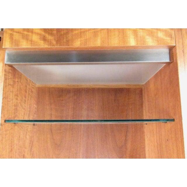 Glass Pair of Scandinavian Modern Teak Display Cabinets For Sale - Image 7 of 10