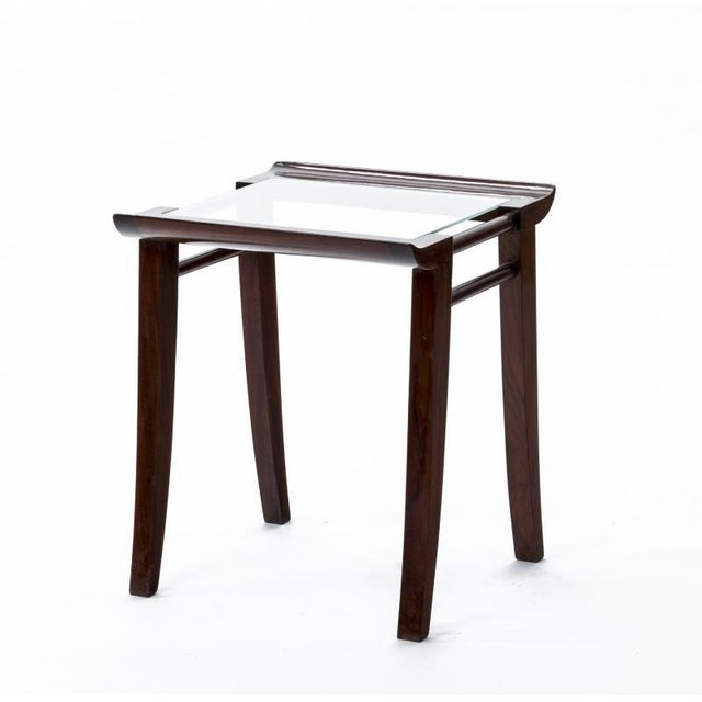 1950s Maxime Old Superb Set of 3 Mahogany Nesting Tables For Sale - Image 5 of 6