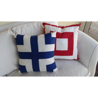 Nautical/ Outdoor Accent Pillows - a Pair Preview