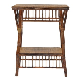 Bombay Side Table, Brown, Rattan For Sale