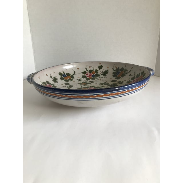 Ceramic Vintage Rustic Tuscan Pottery Bowl For Sale - Image 7 of 12
