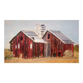 The Barns at Murdoch Farm Painting by Susan Thau