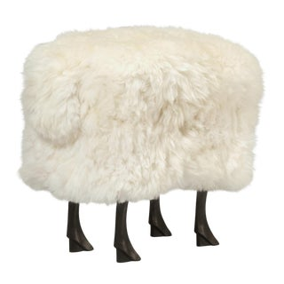Old Plank Collection Sheep Ottoman For Sale