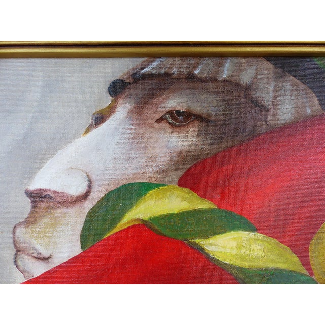Mexican Artist Mario Lopez Cano Oil Painting on Canvas For Sale - Image 4 of 11