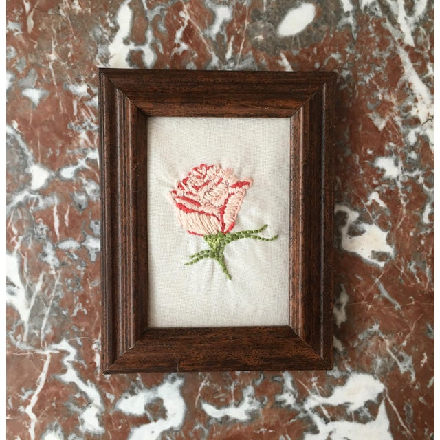Hand Embroidered Rose Art - Image 2 of 5