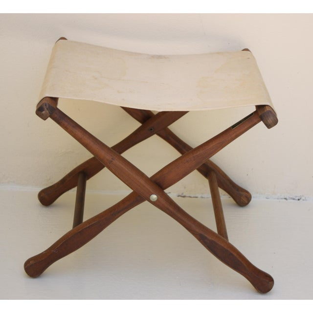 Vintage Canvas Folding Stool   Chairish