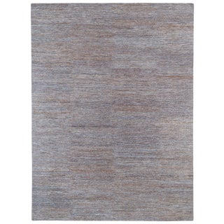 "Contemporary Textured Solid Wool Rug-9'x12"" For Sale"