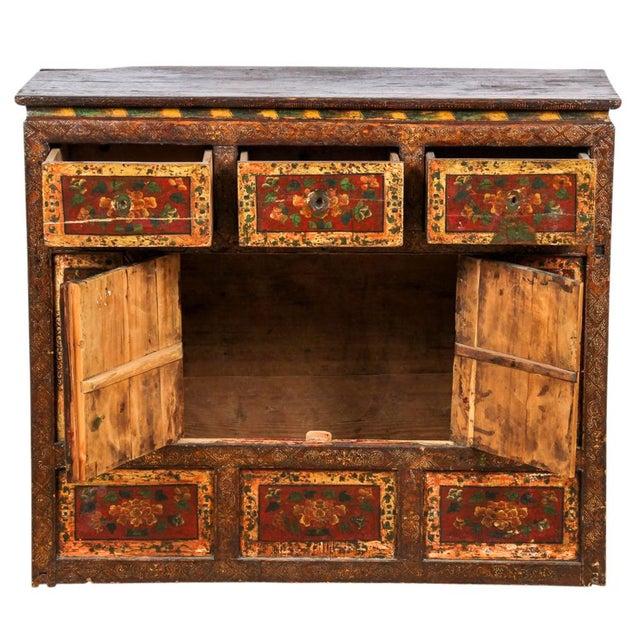 Antique Tibetan Monastery Cabinet - Image 4 of 6