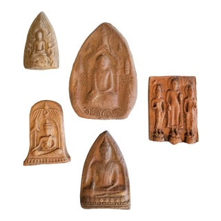 Burmese 19th Century Buddhist Amulet Collection For Sale