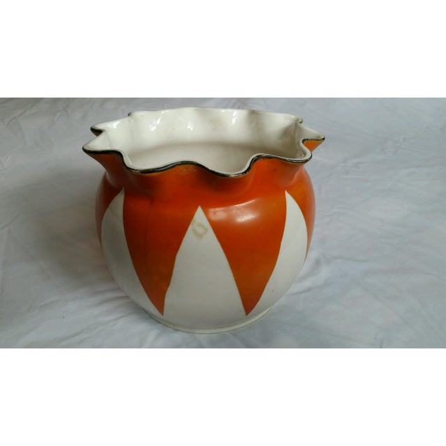 Vintage Scalloped Painted Bowl - Image 2 of 5