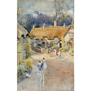 'Isle of Wight Village' Watercolor