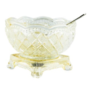 1969 Avon Pressed Glass Salt Cellar For Sale