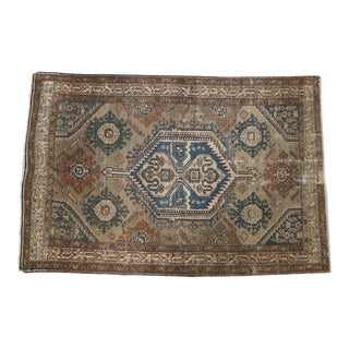 "Vintage Distressed Malayer Rug - 4'2"" X 6'4"""