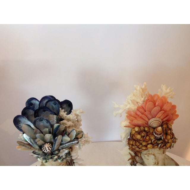 Boho Chic Apollo and Diane Shelled Busts - a Pair For Sale - Image 3 of 4