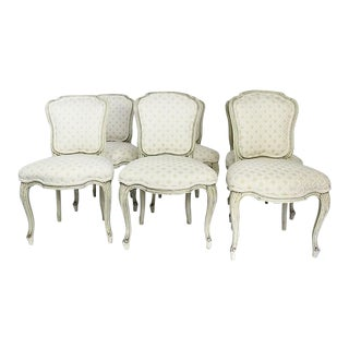 Late 20th Century Vintage Upholstered Dining Chairs- Set of 6 For Sale